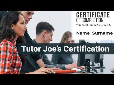 Tutor Joes Certification Course   Tutor Joes Computer Education,Salem