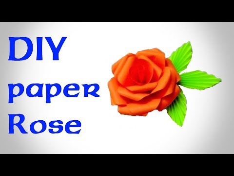 কাগজ দিয়ে খ�ব সহজে গোলাপ বানানো শিখ�ন !  How to Make a Beautiful Paper Rose :