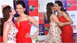 Deepika Padukone and Alia Bhatt gets playful at Zee Cine Awards 2019