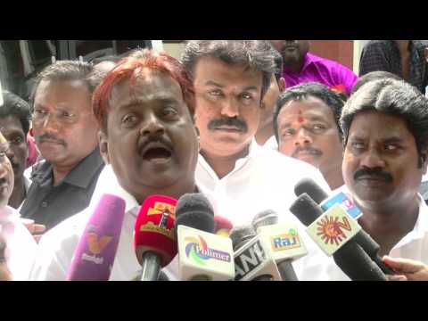 Vijayakanth spitting at reporters Full Video