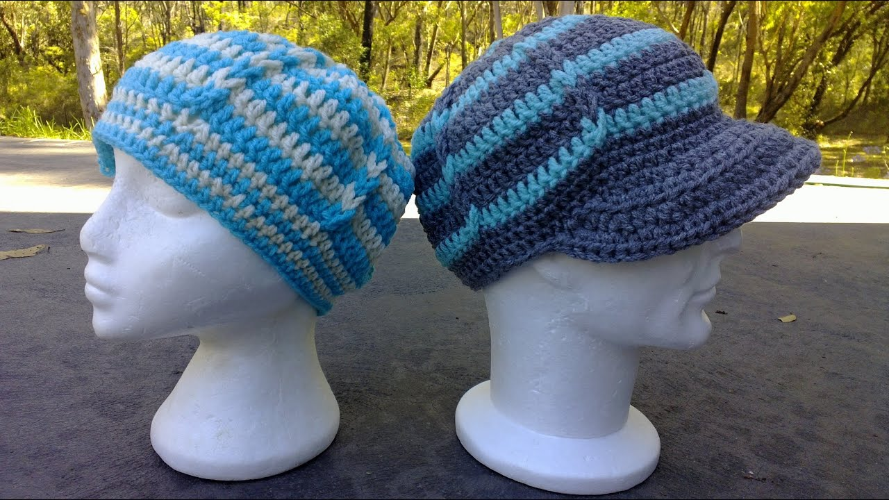 Jacobs ladder hat optional brim peak crochet tutorial youtube bankloansurffo Gallery