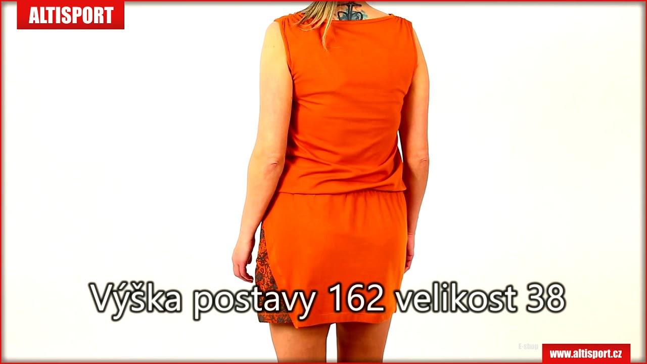 6cf122d3d8da dámské šaty alpine pro lastia lskn192 oranžová - YouTube