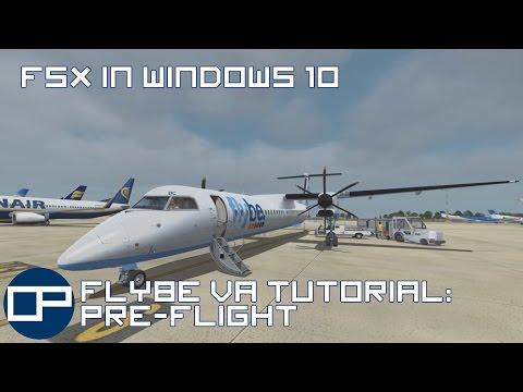 FSX in windows 10 | Tutorial |  Majestic Dash 8 | East Midlands to Schiphol | Part 1: Pre-flight