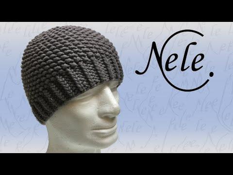 Mütze stricken – Strickmütze für Anfänger im Perlmuster – DIY Anleitung by Nele C.