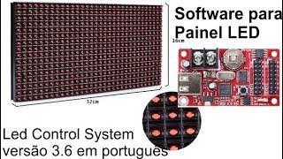 Software LED control System 3.6 para letreiros de LED P10