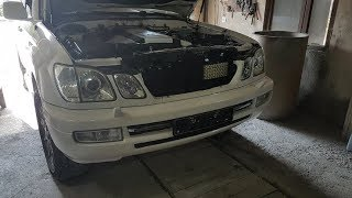 How to remove the front bumper for Lexsus LX470 / Removing front bumper on Lexsus LX470