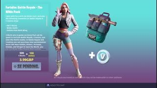 Purchasing the new starter pack in season 9 +600 v-Bucks Fortnite battle royal