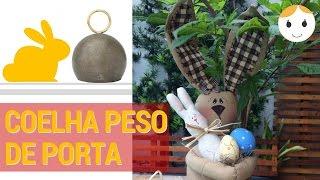 COELHA PESO DE PORTA – Patchwork/Costura