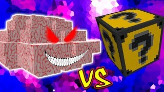 CEREBRO DO MAL VS. LUCKY BLOCK TEXTMONSTER (MINECRAFT LUCKY BLOCK CHALLENGE BRAIN)