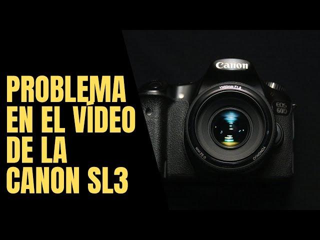 Solución a velocidad de escritura en tarjeta lenta en la cámara Canon SL3