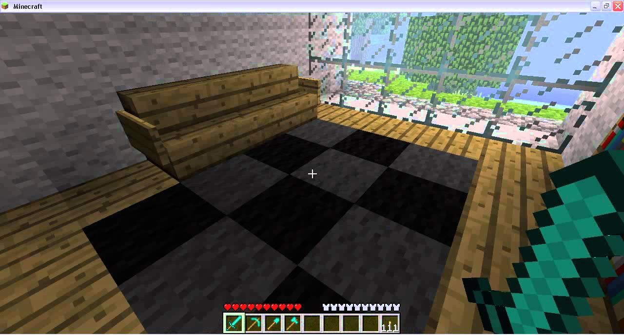 Minecraft casa moderna youtube for Minecraft case moderne