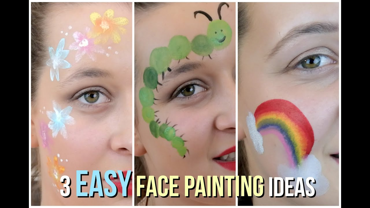 Easy Face Painting Ideas That Your Kids Will Love YouTube - Simple face painting