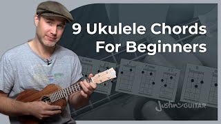 Ukulele Lesson 2 - Uke Open Chords - C Cm C7 F Fm F7 G Gm G7 - Ukulele Tutorial [UK-002]