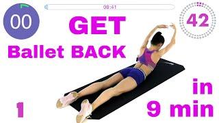 BALLET BACK workout in 9 MIN with ballerina Maria Khoreva