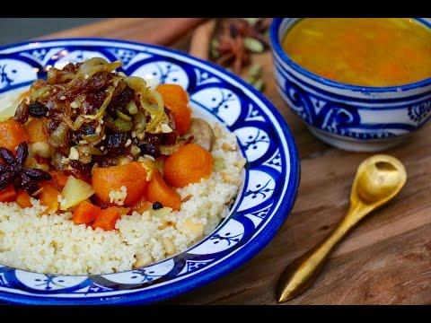 couscous-rapide-sucré-salé-au-poulet-et-oignons-caramélisés-(tfaya)