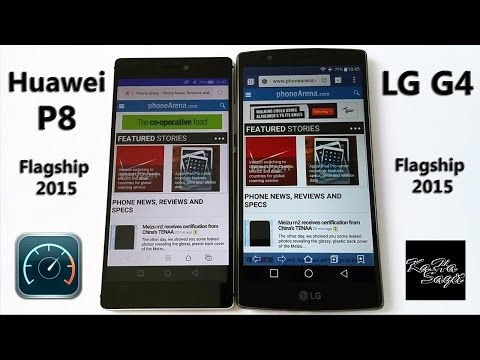 Huawei P8 vs LG G4 Speed Test - apps and web loading time