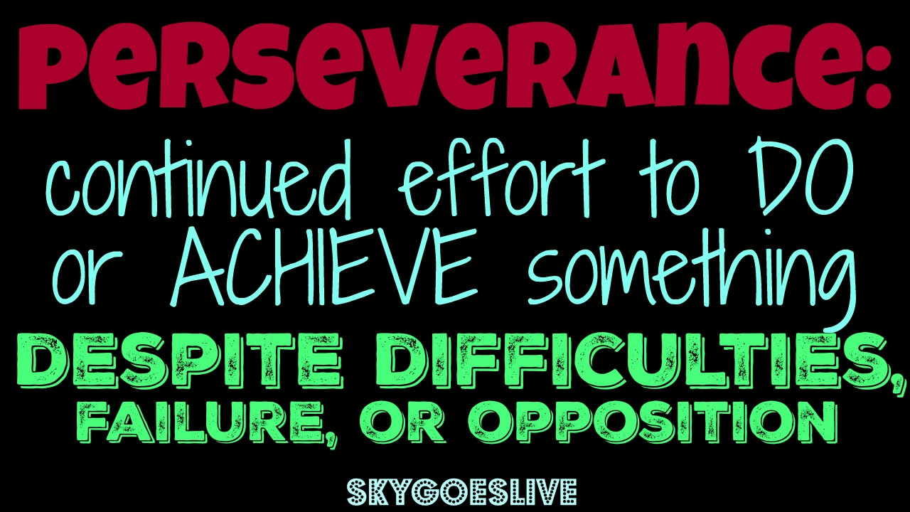 perseverance or grit inspirational message for kids youtube