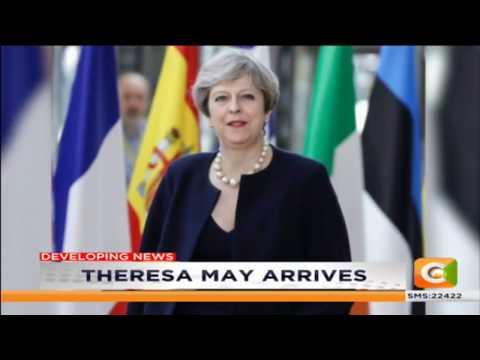 British Prime Minister; Theresa May in Kenya #DayBreak