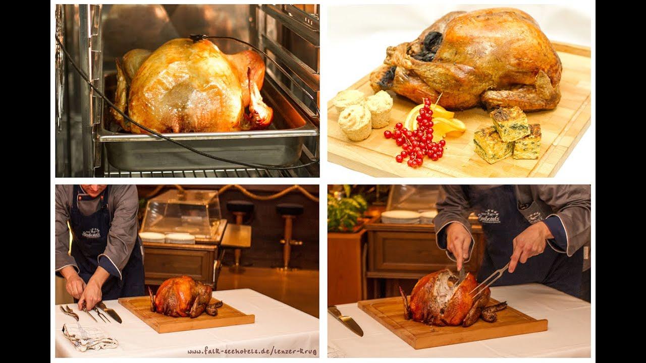 Tranchieren von einem Thanksgiving Truthahn - YouTube