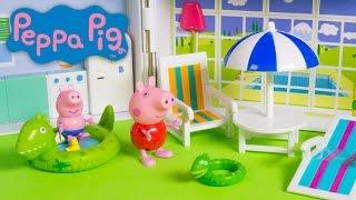 Peppa Pig Holiday Sunshine Villa Playset Peppa Pig Casa de Vacaciones Summer House Toy Videos