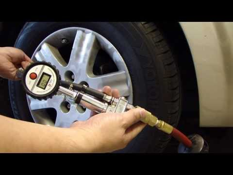 Harbor Freight Tire Inflator with Modified Digital Tire Gauge