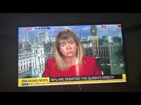Maria Caulfield MP discussing the Queen's speech on Sky news