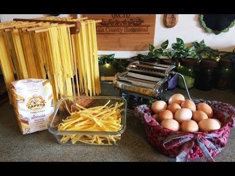 Homemade Pasta Spaghetti and Fettuccine