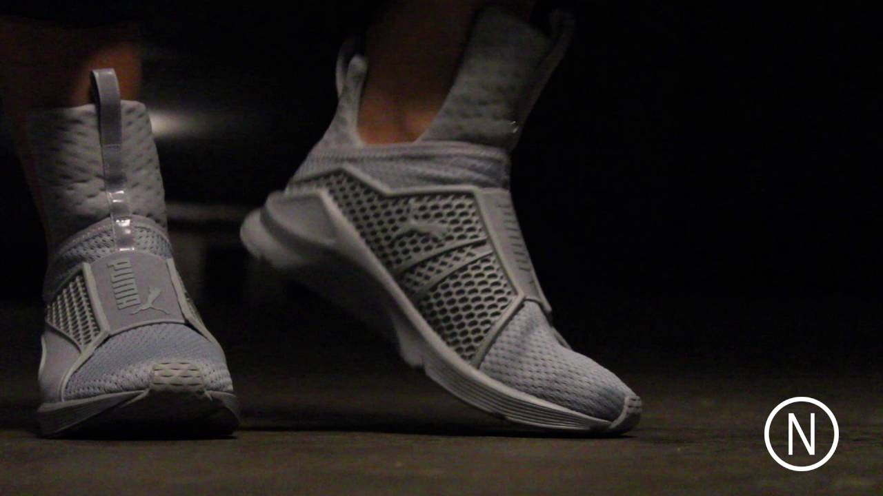 On Feet Puma Fenty Trainer by Rihanna Grey NOIRFONCE Sneakers - YouTube a12e2125b