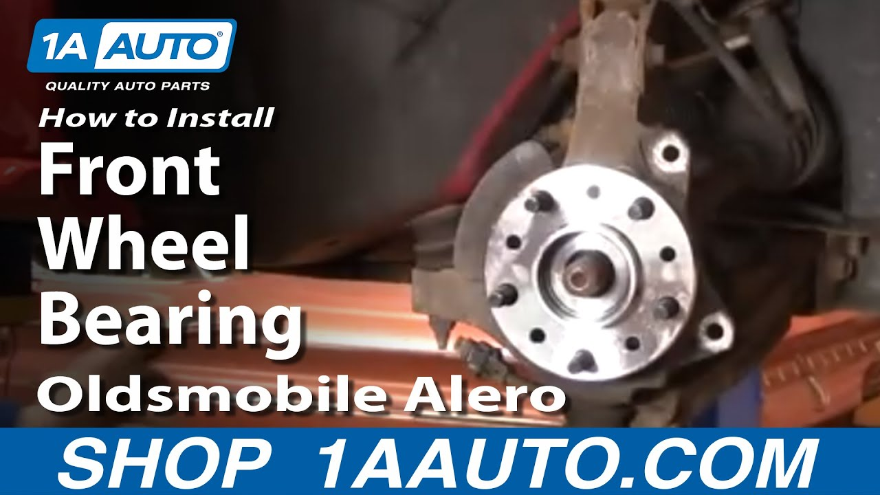 medium resolution of how to install replace front wheel bearing hub oldsmobile alero 99 04 1aauto com