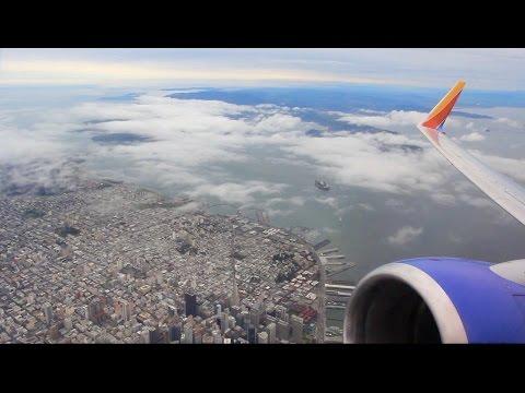 Southwest Flight WN 6186 (OAK-LGB) Takeoff from Oakland (N723SW)