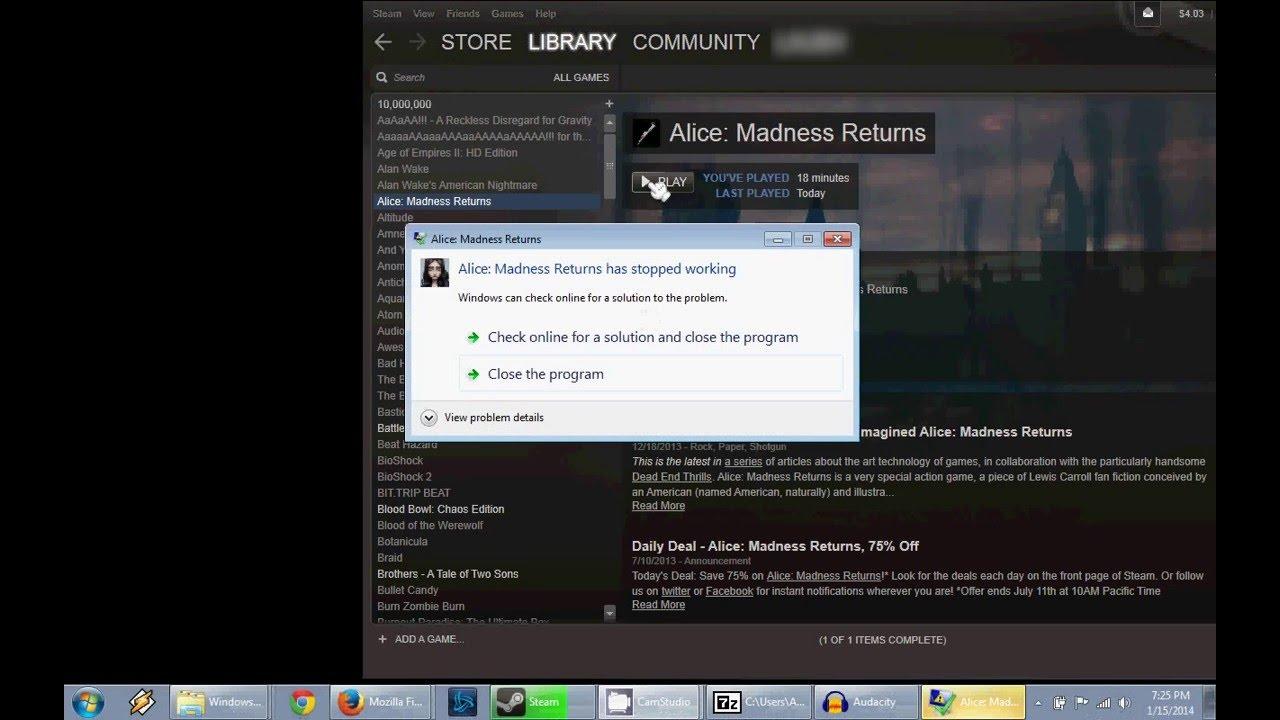 alice madness returns windows 10 fix