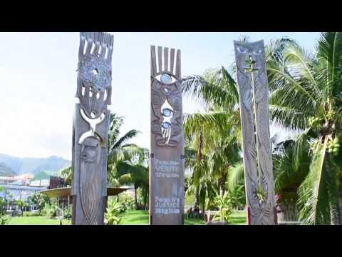 Papeete, Tahiti, French Polynesia - Memorial Site for Nuclear Testings HD (2017)