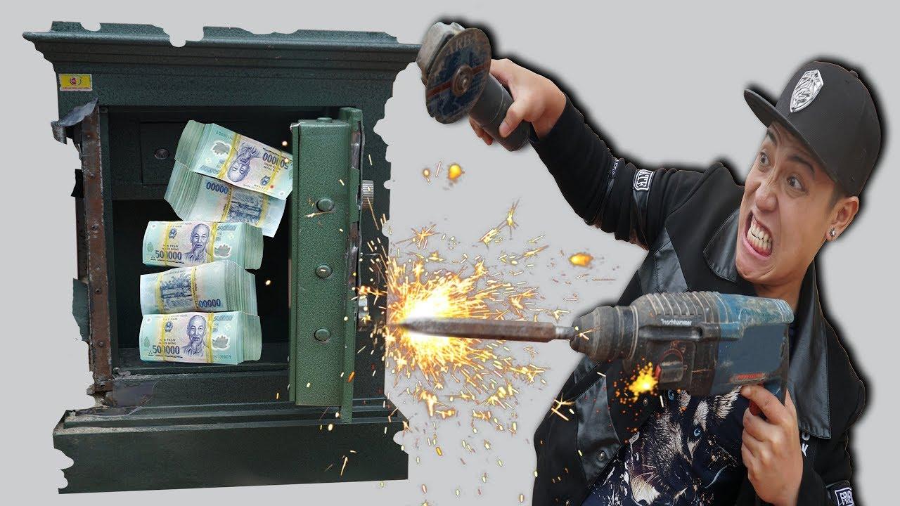 NTN - Thử Thách Phá Hủy Két Sắt Lấy 100 Triệu VNĐ (Destroying the safe and get the money challenge)