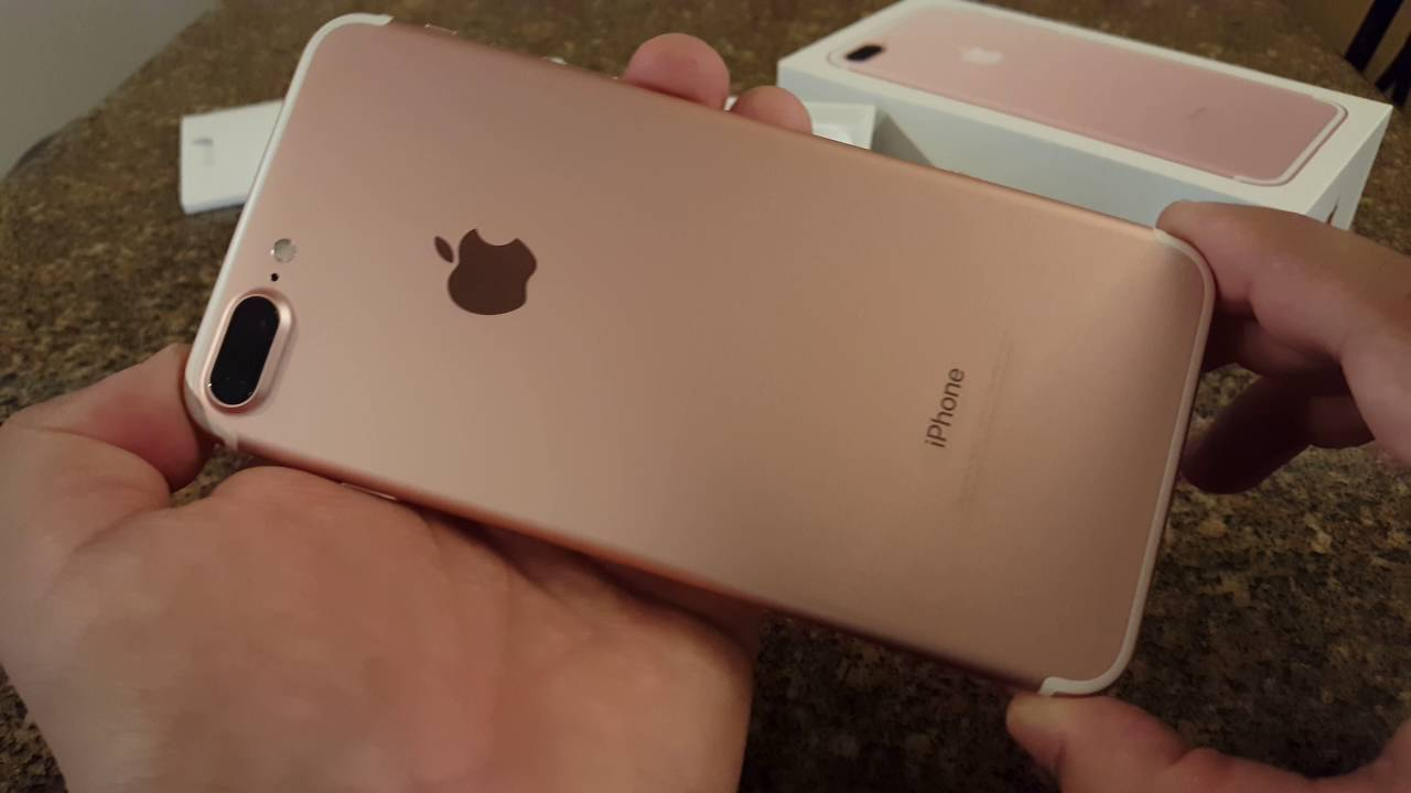 8f0d618abc9 256gb iPhone 7 Plus Rose Gold unboxing/ color comparison - YouTube