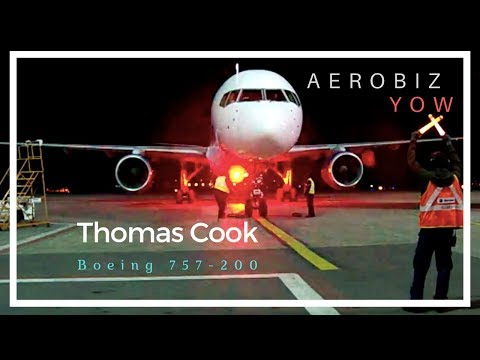 Marshaling in a Thomas Cook Boeing 757-200