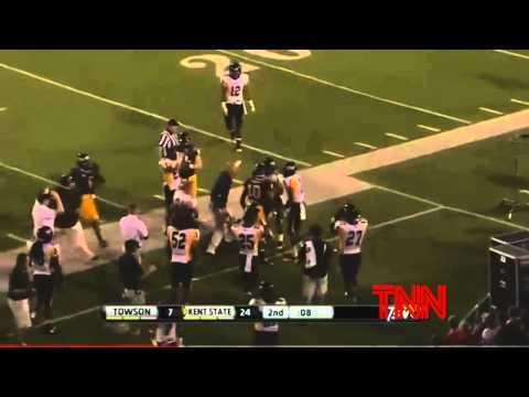 Kent State Andre Parker Returns Fumble Wrong Way - Football 2012 Fail