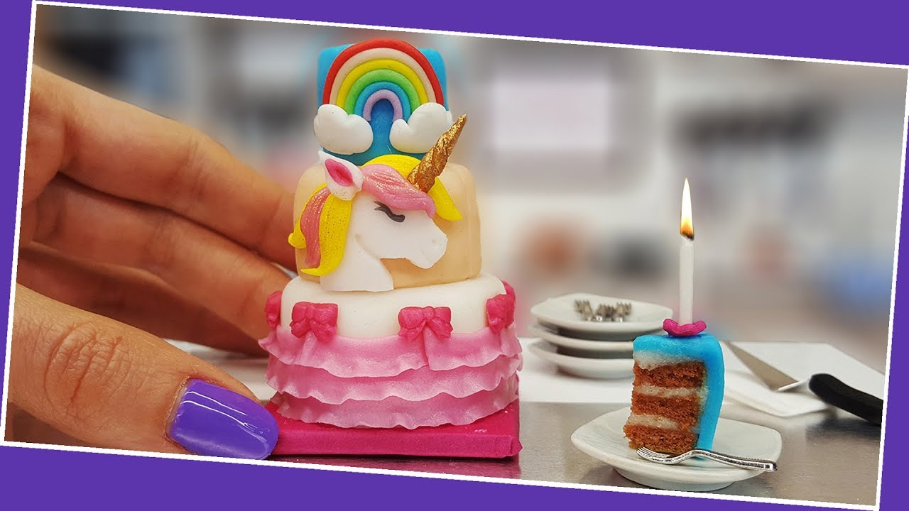 Mini UNICORN Cake Birthday Party With Surprises UNBOXING