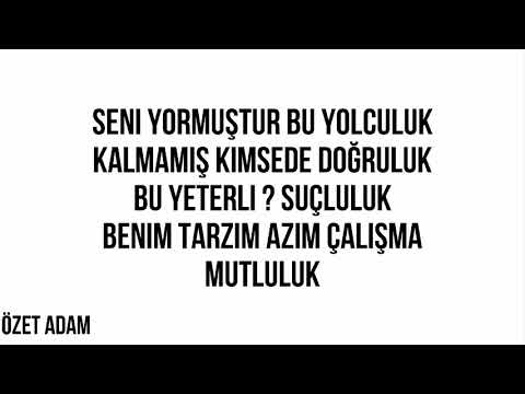 Enes Batur-Sen Yerinde Dur (Lyrics)
