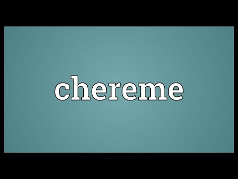 Chereme Meaning