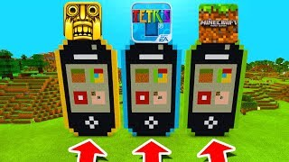 Minecraft PE : DO NOT CHOOSE THE WRONG IPHONE! (Temple Run, Tetris & Minecraft)