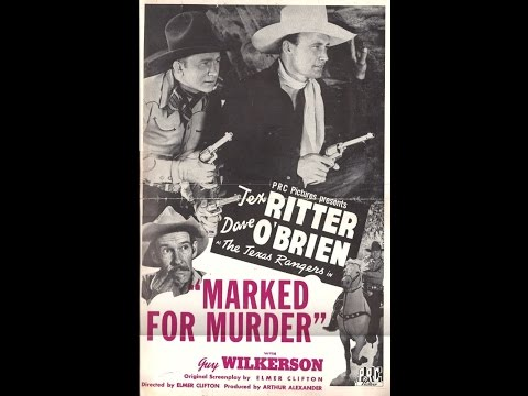 Marked for Murder (1945) Tex Ritter, Dave O'Brien, Guy Wilkerson