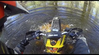 Квадроциклы На Грани !!! Переплываем  Затопленный Лес , Порвали Brp Xmr 1000