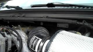 2001 f250 7.3 powerstroke, DIY intake, Straight pipe