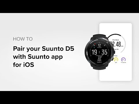 How to pair your Suunto D5 with Suunto app for iOS
