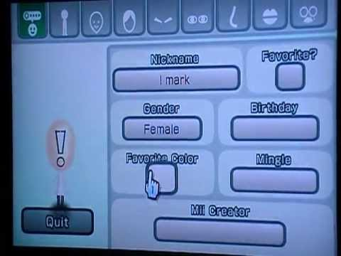 How to make an exclamation mark mii