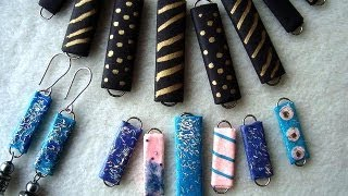 PAPER BEADS from paper clips, how to diy jewelry making, recycling