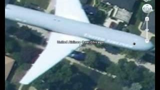 Video Google Earth - Planes In Flight download MP3, 3GP, MP4, WEBM, AVI, FLV Juli 2018