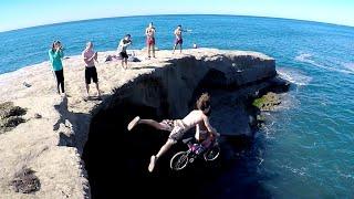 Riding Bikes off Cliffs