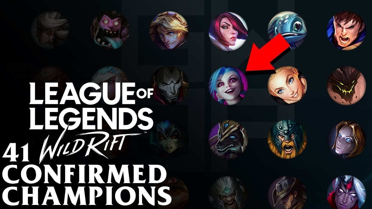 LOL MOBILE WILD RIFT 41 CHAMPIONS OR HEROES LIST - YouTube
