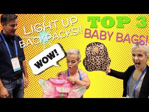 Mini Mama's TOP 3 BABY BAGS & LIGHT UP BACKPACK!